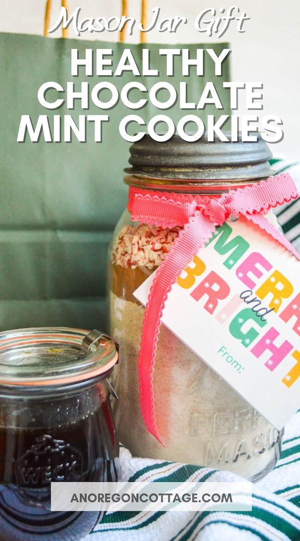 chocolate mint cookies jar gift