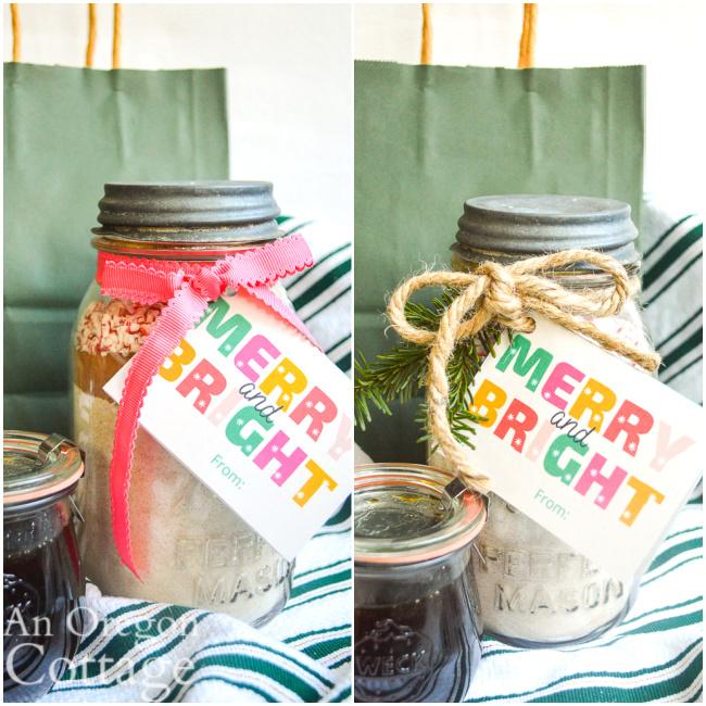 chocolate mint jar gift two ways
