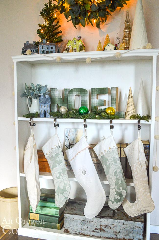 christmas 2020 bookself-stockings