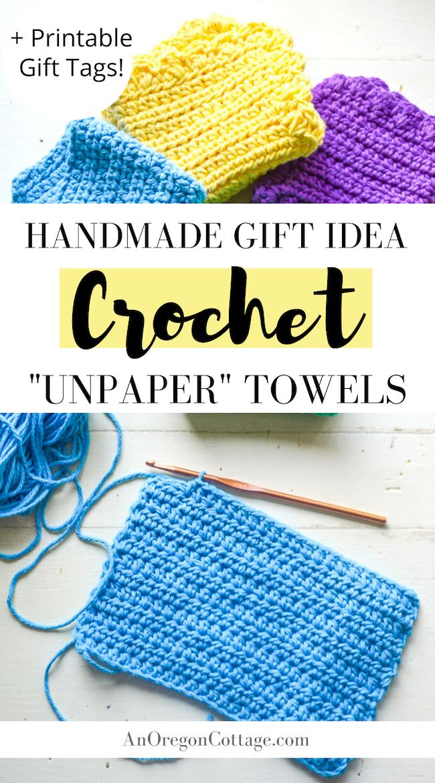 crochet unpaper towels pin image