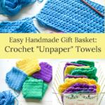 handmade gift-crochet unpaper towels basket