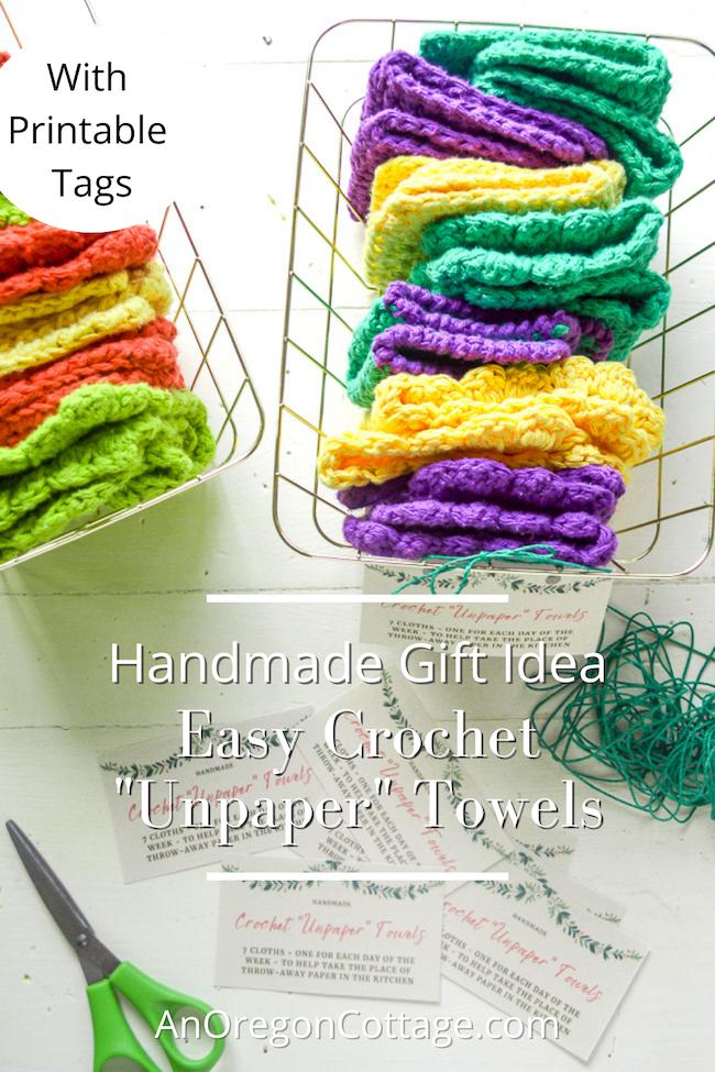 handmade gift-crochet unpaper towels