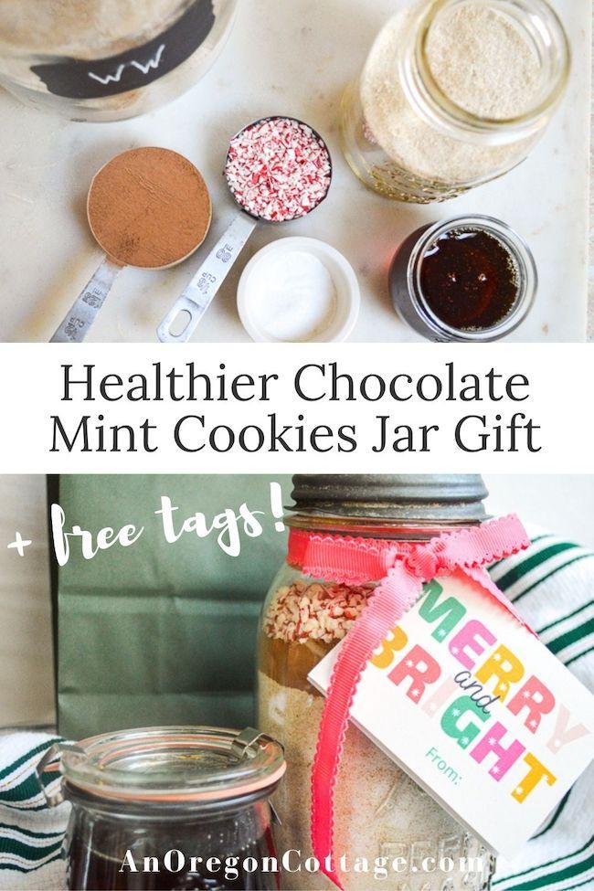 healthier chocolate mint cookie jar gift pin2