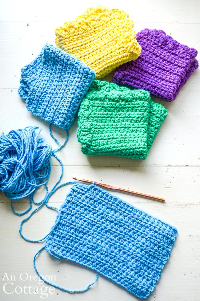 making crochet unpaper towels