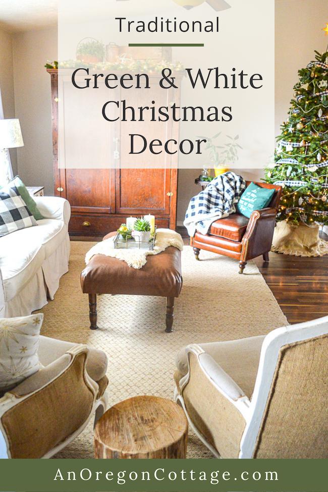 traditional green-white Christmas decor