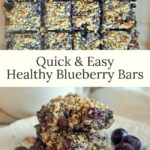 easy healthy blueberry bars