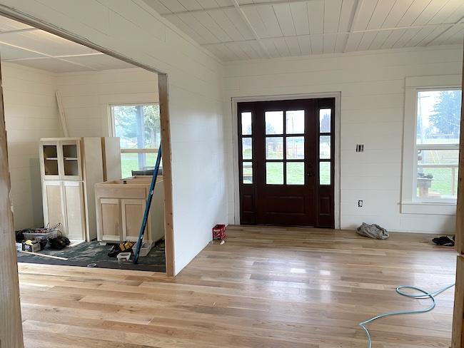 farmhouse entry-dining progress-1-21