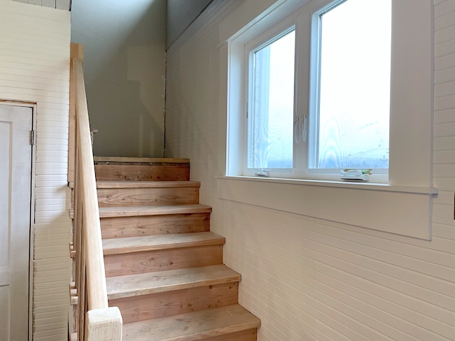 farmhouse stairwell progress
