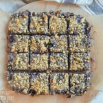 full cut oat blueberry bars above