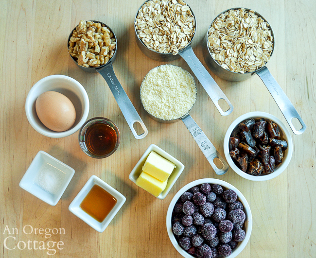 oat blueberry bars ingredients