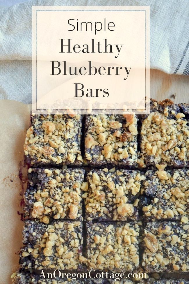 simple healthy oat blueberry bars above