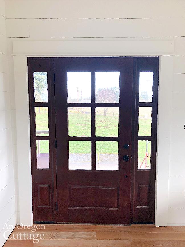 farmhouse front door interior trim