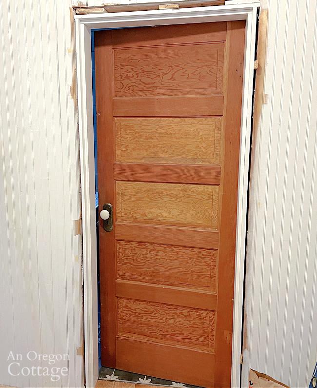 installed vintage door