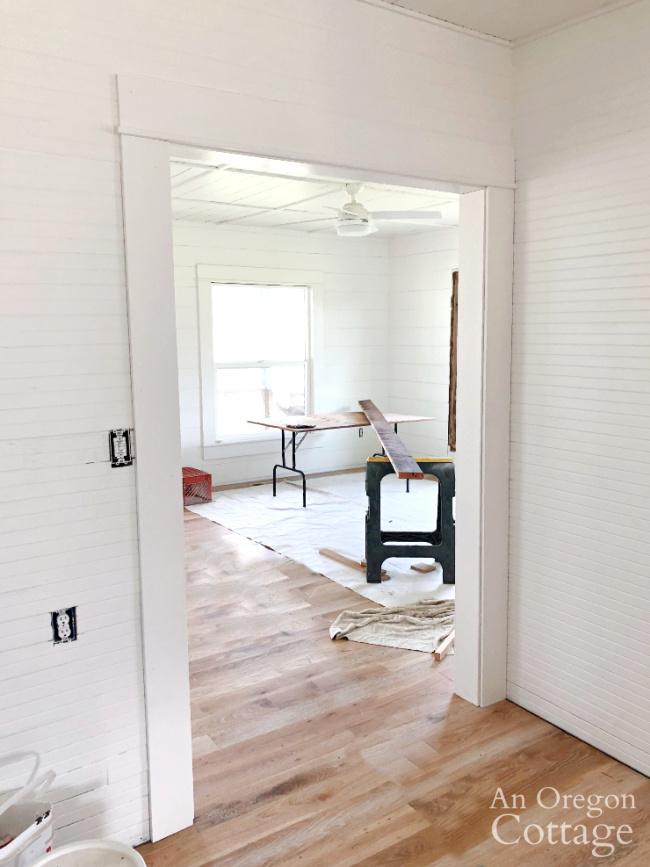interior doorway trim-kitchen to living room