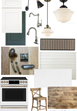 Farmhouse Fixer Kitchen Mood Board-featured