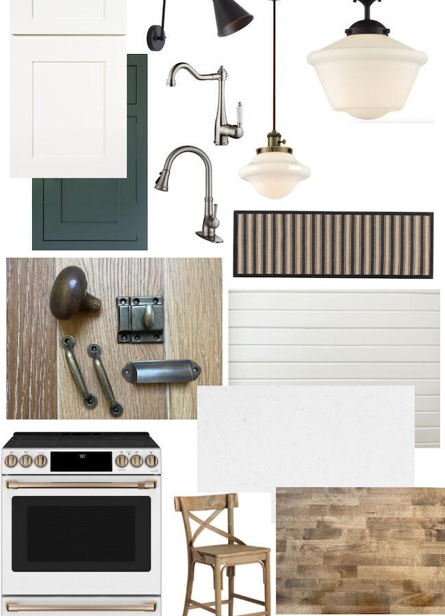 Farmhouse Fixer Kitchen Mood Board-featured