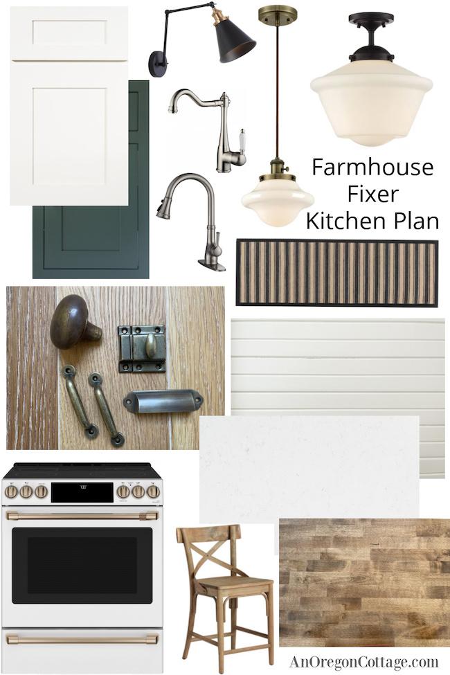 Farmhouse Fixer Kitchen Mood Board
