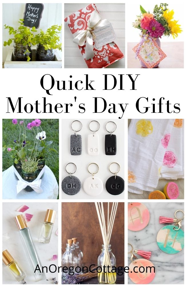 Quick DIY Mother's Day Gifts collage