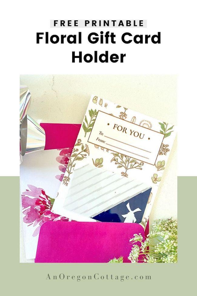free floral gift card holder