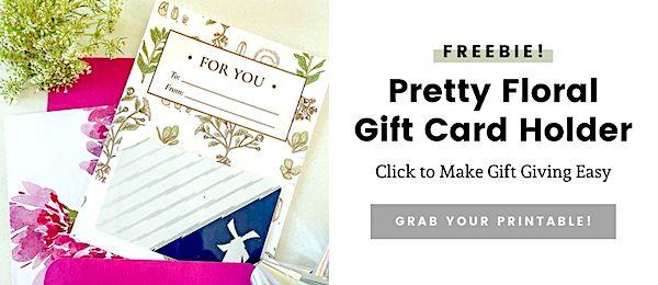 gift card holder button