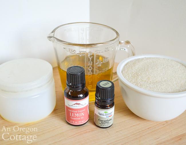 DIY sugar scrub ingredients