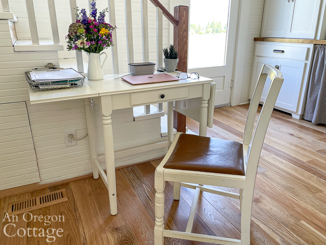 Ikea ingatorp desk in kitchen