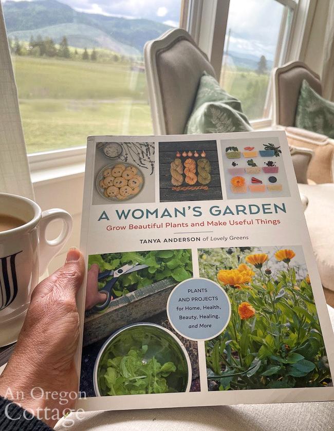 reading a woman's garden book