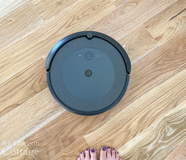 roomba on floor