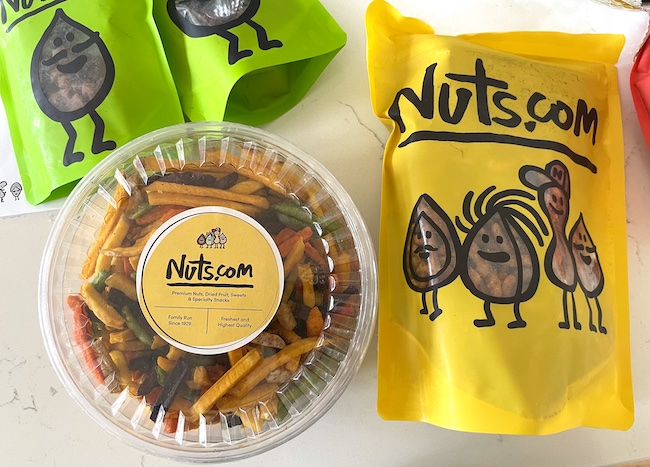 Packages from Nuts.com order