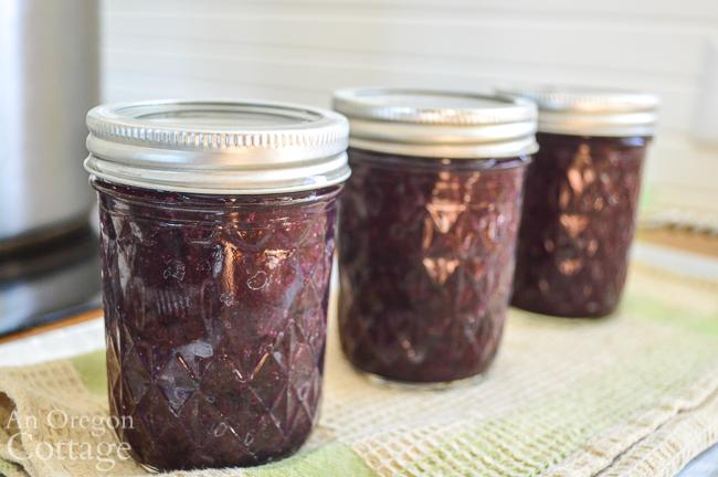 blueberry syrup half pint jars