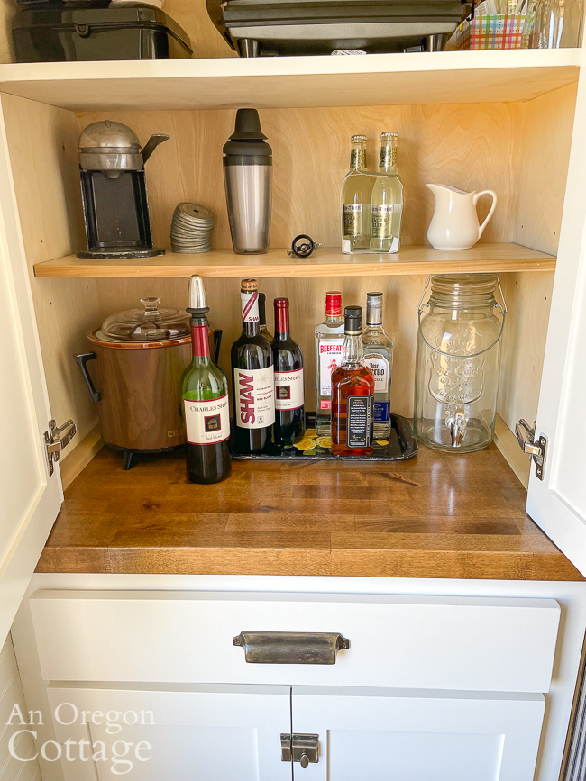 drinks cabinet for happy hour