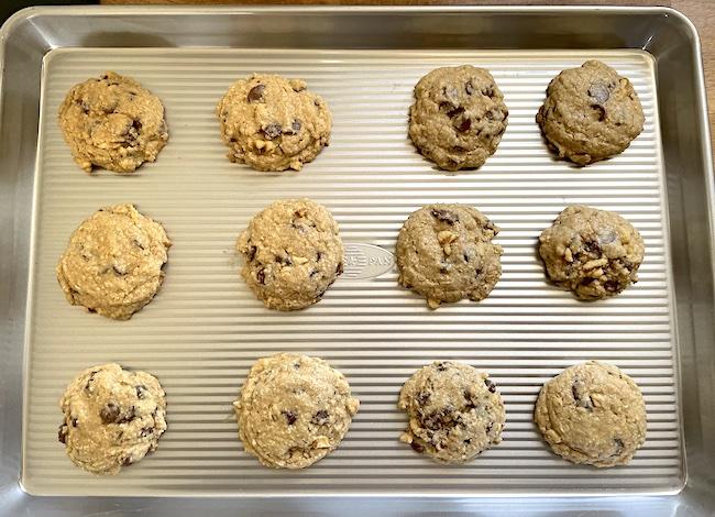cookies on USA bakeware half sheet pan