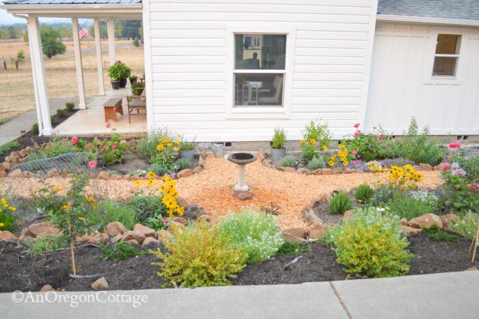 sunken garden from driveway