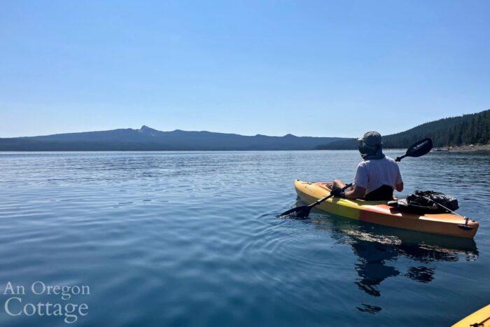 kayaking Crescent Lake