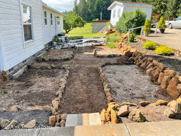 outlined sunken garden south