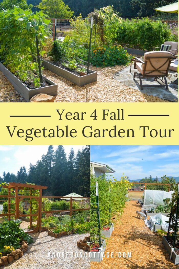 year 4 fall garden tour pin image