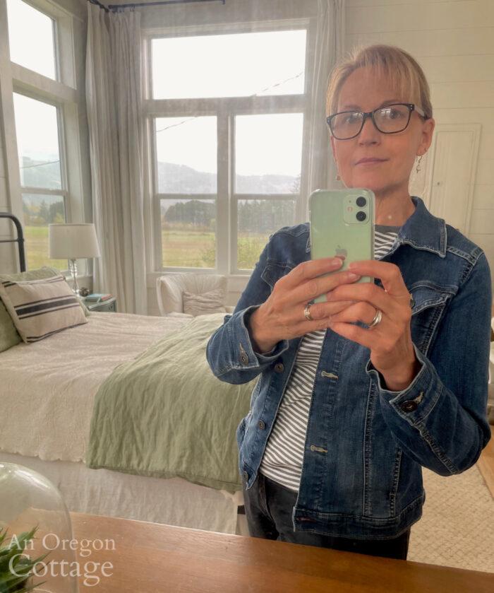 wearing wrangler jean jacket